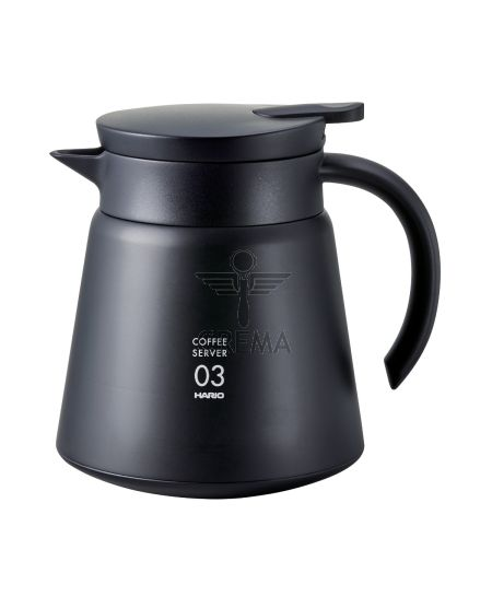 Hario V60 Insulated Stainless Steel Server Black 800ml